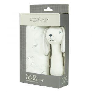 Ivory Bunny Muslin Wrap & Toy