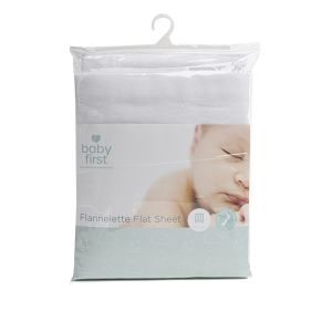 Cot Flannelette Sheet - Flat White
