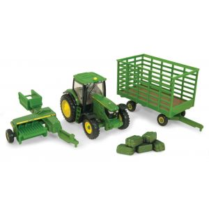 1:64 Tractor with Square Bailer