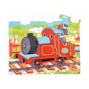 9 Piece Tray Puzzle - Train