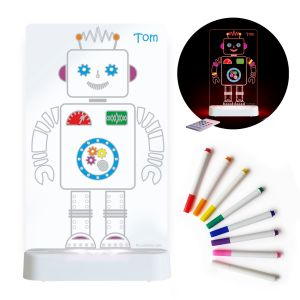 LED Colour Me Night Light (USB/Battery) - Robot