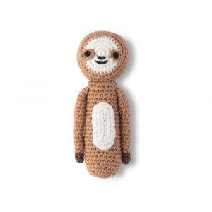 Crochet Rattle - Sleepy Sloth