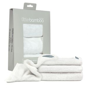 Little Bamboo Towelling Washer 3Pk