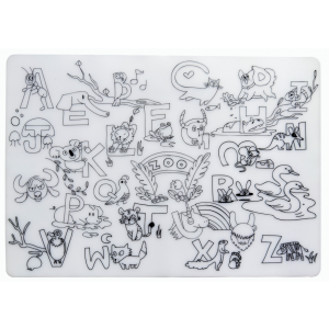 Reusable Silicone Colouring Placemat - The Zoo