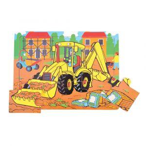 9 Piece Tray Puzzle - Digger