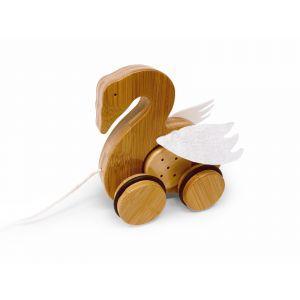 Bamboo Push & Pull - Swan
