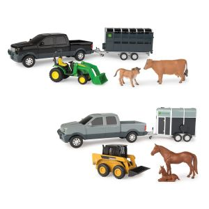 John Deere Pickup and Livestock Trailer