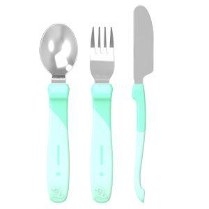 Learn Cutlery Stainless Steel Green