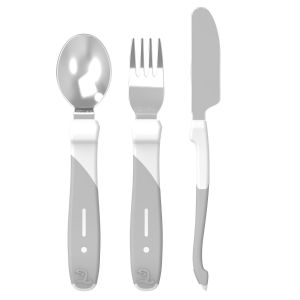Learn Cutlery Stainless Steel White