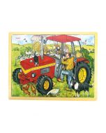 24 Piece Puzzle Tray - Tractor