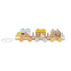Pull Train Pastel