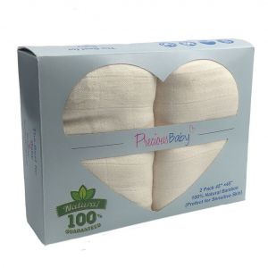 Baby Muslin Wrap Cream 2Pk