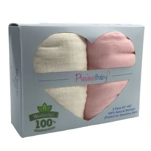 Baby Muslin Wrap Pink 2Pk