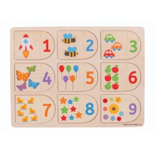 Picture & Number Matching Puzzle