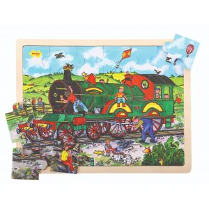 24 Piece Tray Puzzle - Train