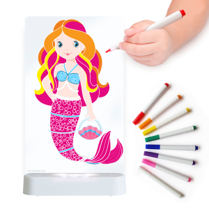 LED Colour Me Night Light (USB/Battery) - Mermaid