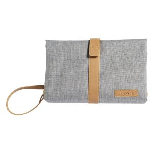 Changing Clutch Heather Grey & Tan