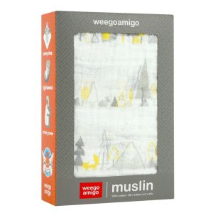 Weego Muslin 1pk Prints - Alpine