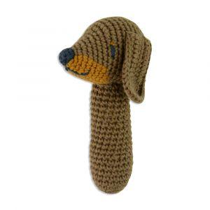 Crochet Rattle - Snags Sausage Dog