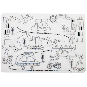 Reusable Silicone Colouring Placemat - The Street