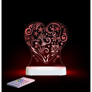 LED Night Light (USB/Battery) - Love Heart