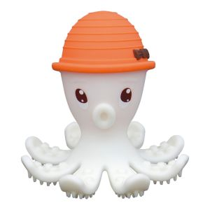 Octopus Teething Toy - Orange