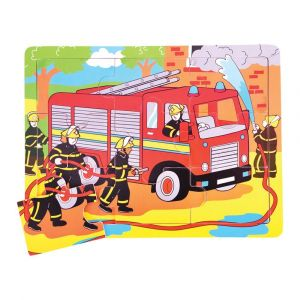 9 Piece Tray Puzzle - Fire Engine