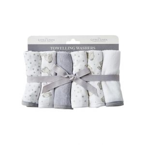 Bunnies Facewashers 6Pk