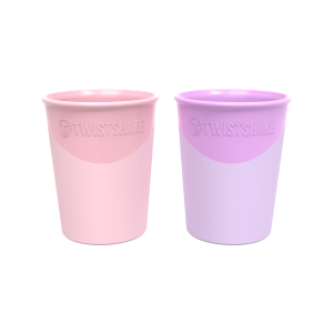 Twistshake 2X Cup 170Ml Pink/Purple