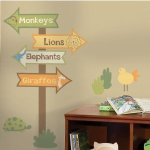 Zoo Signs Giant Wall Decals