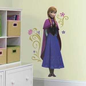 Frozen Anna With Cape Giant Wall Decals