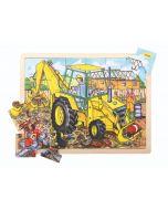 24 Piece Puzzle Tray - Digger